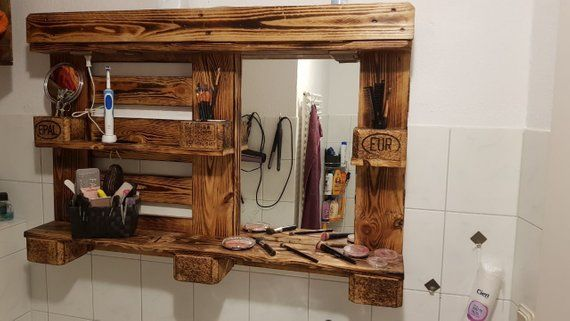 Mirror Cabinet 3d Mirror Cabinet From Pallet In 2020 Mirror Cabinets Bathroom Mirror Cabinet Mirror