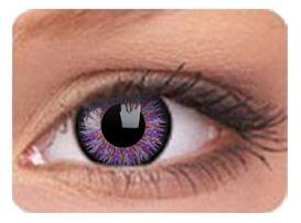 Lentille de couleur Glamour Violet Correction -1.25