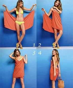 Bikini wrap dress....so going to make this!