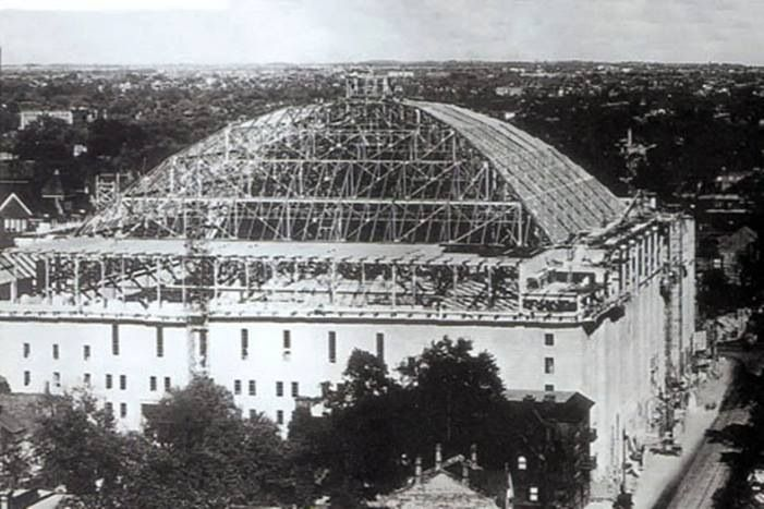 Maple Leaf Gardens under construction in 1931. Photo found on Vintage Toronto's Facebook page.