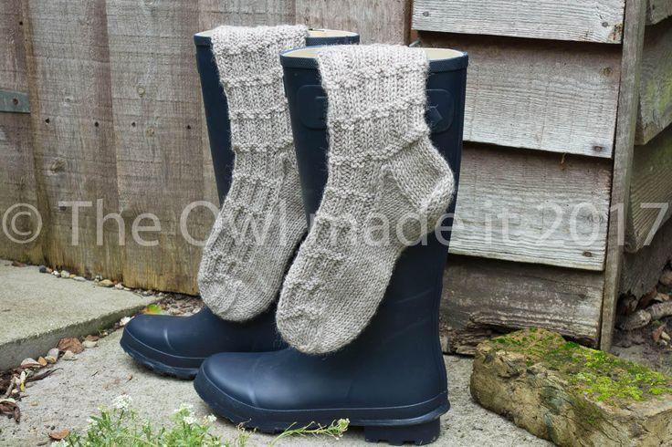 Thermal Boot socks | Extra thick socks | Winter socks | Wellington boots socks | Women socks | Men socks | British Wool socks | UK seller by TheOwlmadeit on Etsy