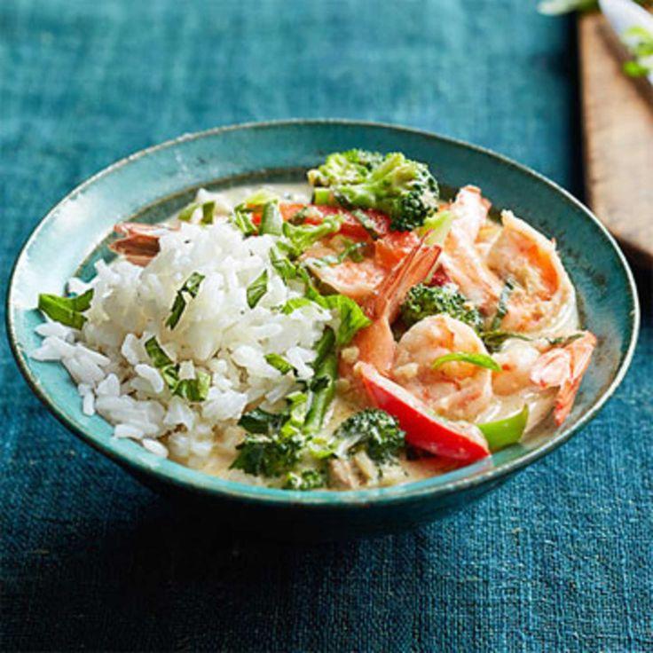 Thai Shrimp and Basil Curry.