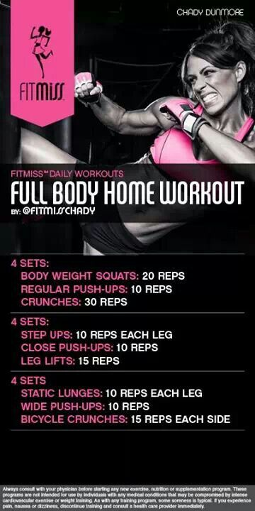 Full Body Home Workout by fitmiss