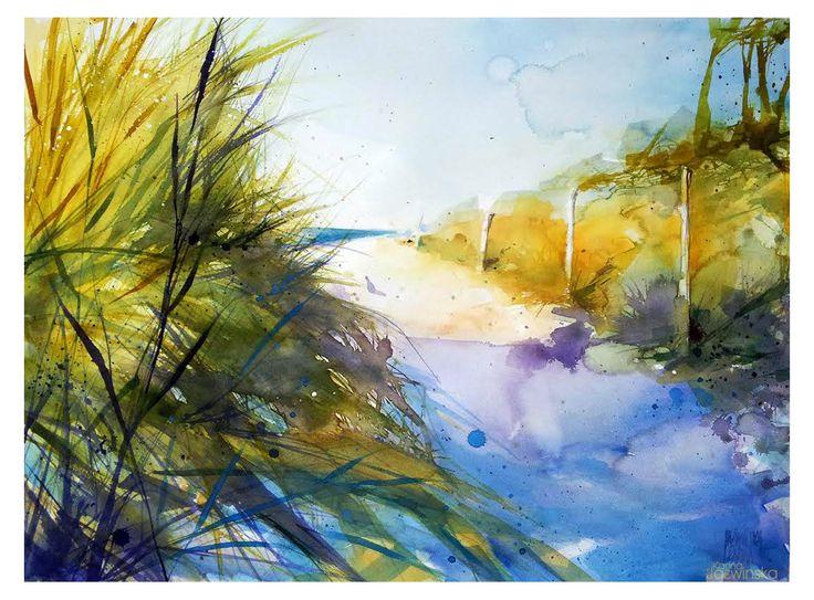 Watercolor/ Dunes/ 73x54 cm/ Saunders/ QoR
