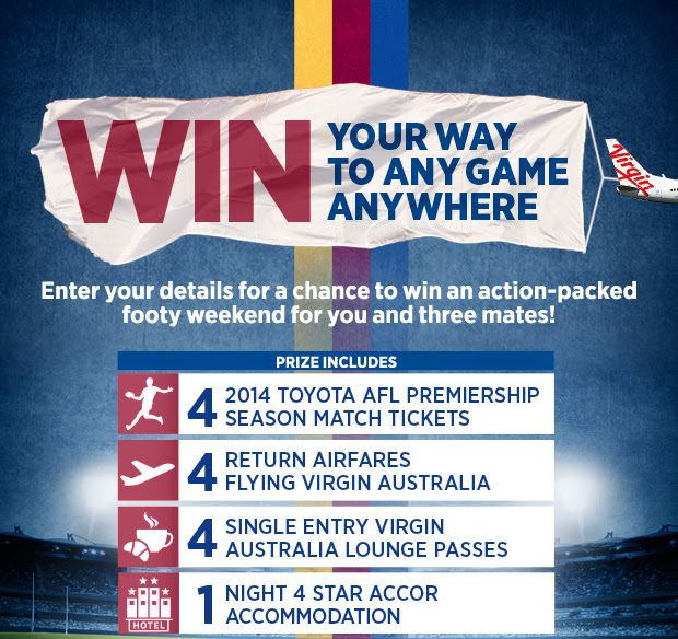 Brisbane Lions in the AFL with a competition to win a chance to view a game anywhere in Australia.