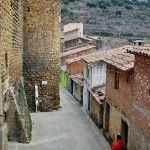 Torre Redonda en al muralla de Benassal en Castellón