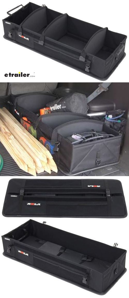 Keep your eggs, milk and other loose items in your car, truck or SUV from rolling around. This vehicle organizer can adjust to fit your items and collapses flat so you don't loose cargo space when not in use.