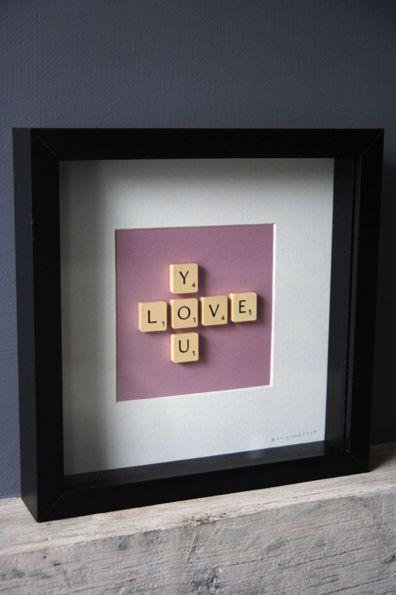 .: Crafts Ideas, Scrabble Words, Gifts Ideas, Diy Crafts, Scrabble Art, Scrabble Tile, Apartment Ideas, Scrabble Pieces, Scrabble Letters