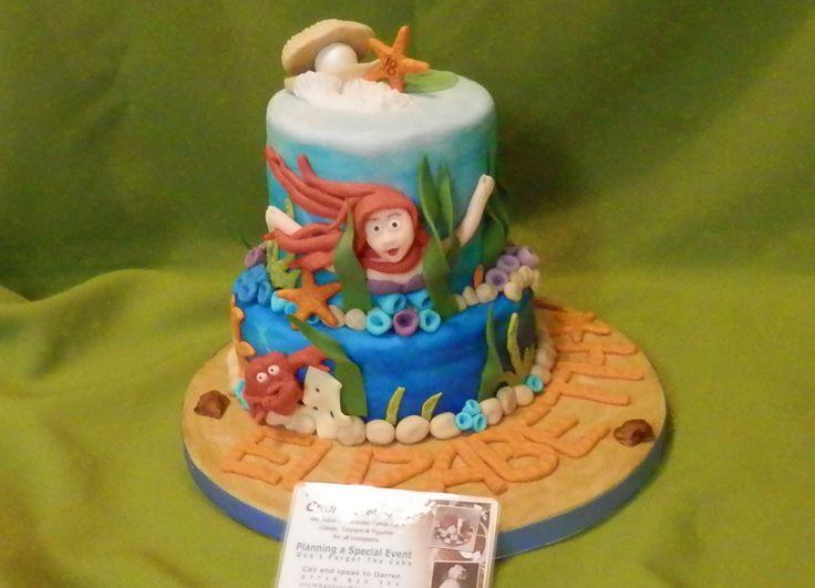 #Little #Mermaid Mini #Cake #DairyFree