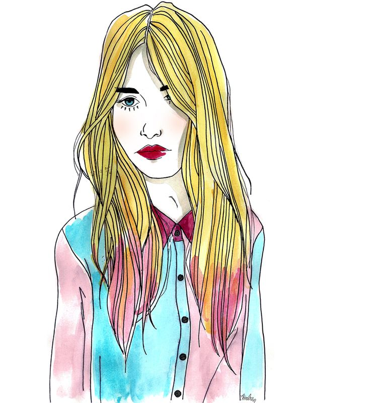 Ambre Clavel's candy-coatedillustration of our coveted Sugar High BlouseStyle, Art, Gal Blog, Fashion Illustration, Watercolors Fashion, Nastygal5 Ambre Claveles