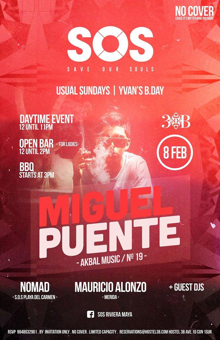 Miguel Puente @ SOS Lounge/Hostal 3B - Playa del Carmen