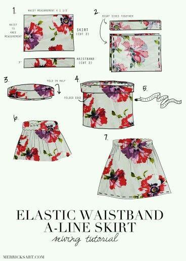 An easy way to make skirt
