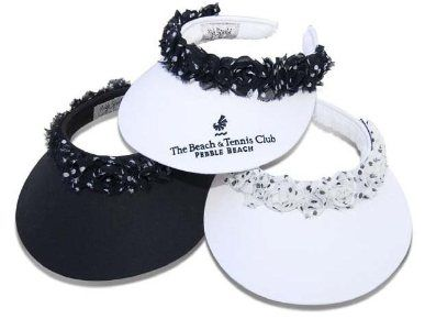 Mrs Golf - Ladies Golf Apparel, Shoes, Accessories - High Spirits Frolic Ruffle Clip On Visor in White or Black