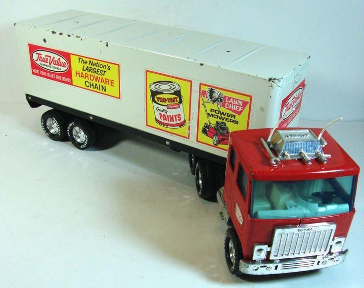 "Nylint True Value Toy GMC Tractor Trailer Semi Truck 18 Wheeler 21"" long #Nylint #GMC"