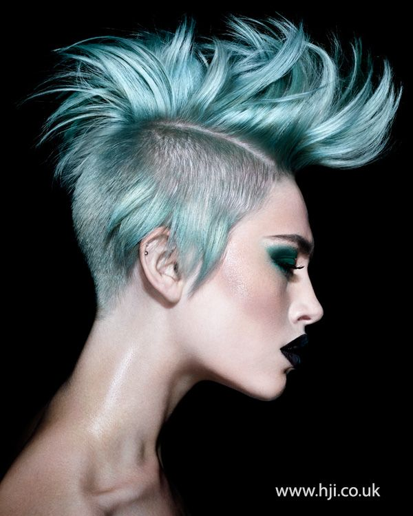 punky turquoise mohawk - Hairstyle Gallery