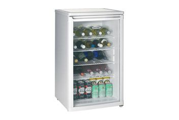 Undercounter Drinks Chiller holds up to 32 wine bottles with white finish