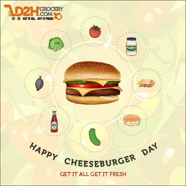Let's make it at home!! Happy Cheese Burger Day! #CheeseBurger #Happy