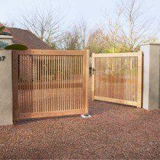Les 25 meilleures id es concernant portail bois sur - Deco jardin faire soi meme clermont ferrand ...