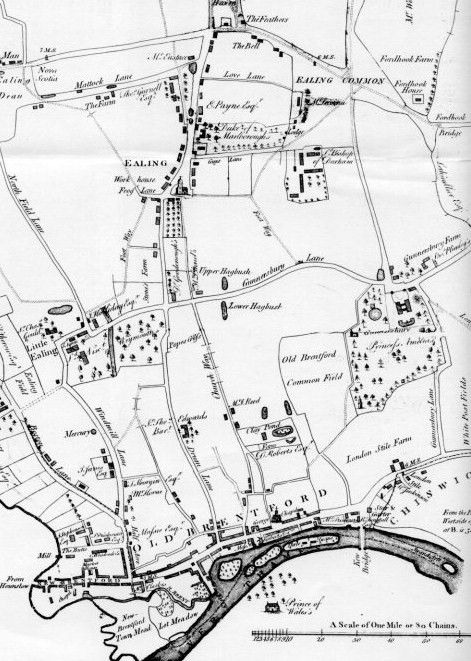 Extract from a map of Ealing Parish in 1777