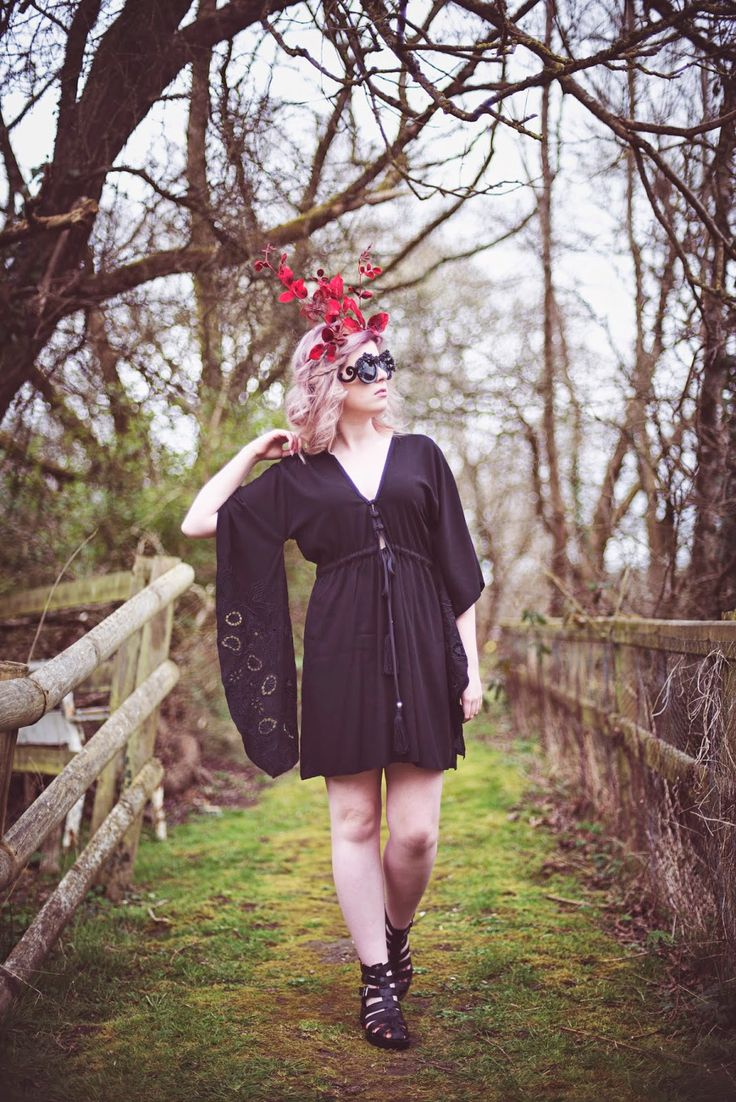 Fashion Revolution Day 2015  Leaf Crown: Alice Halliday  Dress: Wear We Wander  Photo: Kate Bean  Model: Zoe with Umlauts  MUA: Make-up of Wonder by Vali  Hair: Powder & Plait by Mary T