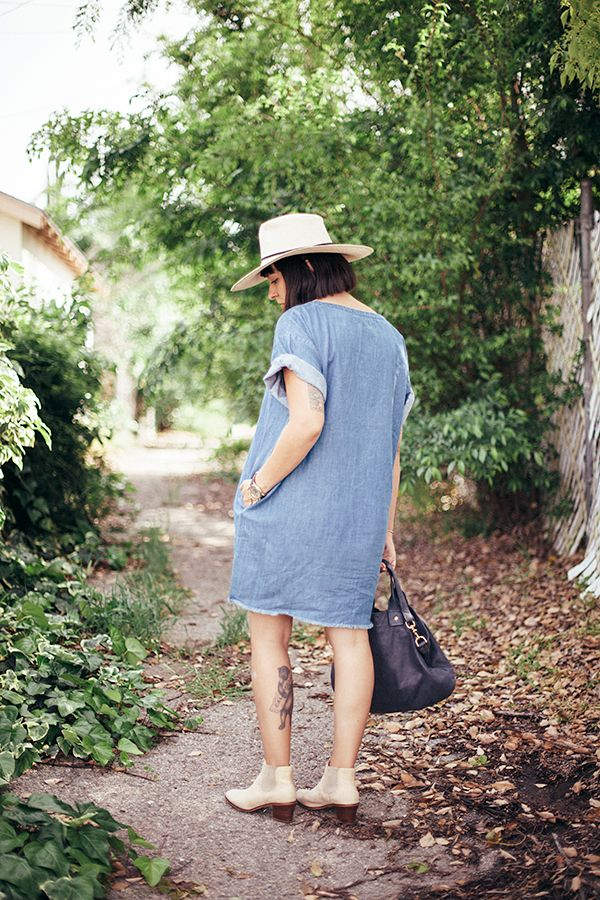 outfit: the denim dress - calivintage