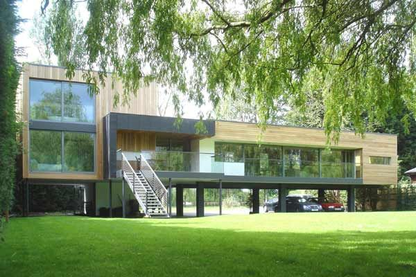 Flood zone building modern house on stilts modern for Modern house on stilts