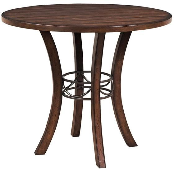 Hillsdale Cameron Round Wood With Metal Ring Counter Height Dining Table    The Beautiful, Dark Gray Metal Accent On The Hillsdale Cameron Round Wood  With ...