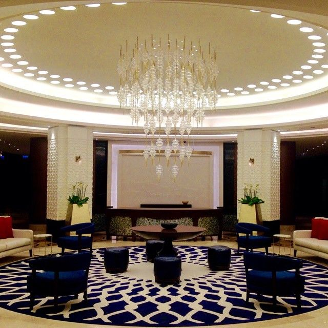 Our lobby at Hyatt Regency Istanbul Atakoy featuring a modern design enriched with traditional motifs.