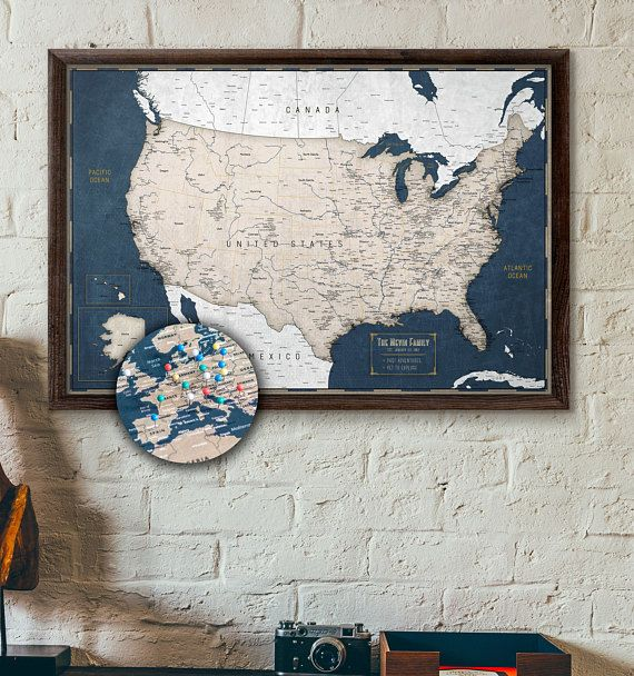 Largebulletin us map best 25 push pin boards ideas on pinterest cork board map map gumiabroncs Choice Image