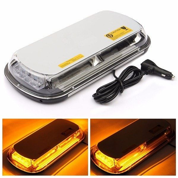 Amber 44 LED Strobe Light Car Roof Top Emergency Warning Flash Light 44W 7 Modes. Amber 44 Led Strobe Light Car Roof Top Emergency Warning Flash Light 44w 7 Modes    feature:  1. Compatible With All Vehicles Equipped With A 12 Volt Dc  Adapter.  2. Long Using Life That Up To 30,000 Hours  3. 7 Different Selectable Strobe Patterns With On/off And Switch Button.  4. Lase Pattern Recall / Memorized.  5. Can Be Seen Up To 1/2 Mile.    specification:  color: Yellow  number Of Led: 44 High…
