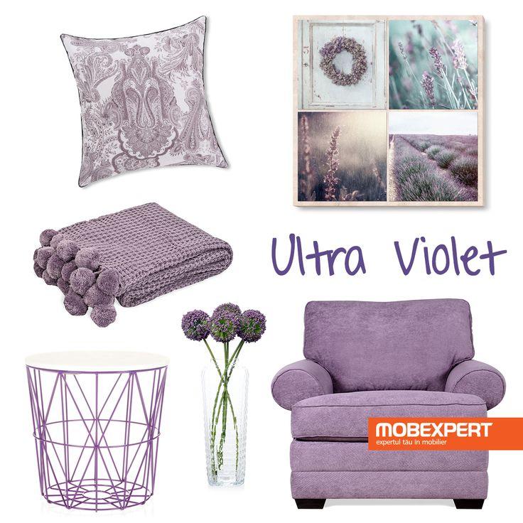 Culoarea anului 2018 – Ultra Violet. #decoideea #ultraviolet #moodboard