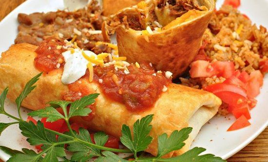 Arizona: Chimichangas: The Phoenix-based Macayo's restaurant chain started a petition to make the chimichanga Arizona's first recognized state food. Word has it that the chain's founder accidentally dropped a burrito into the deep fryer in 1946, and it's been a Southwestern favorite ever since. It makes sense, given the state's proximity to the Mexican state of Sonora, which is known for its wheat flour tortillas.  Source: Flickr user jeffreyw