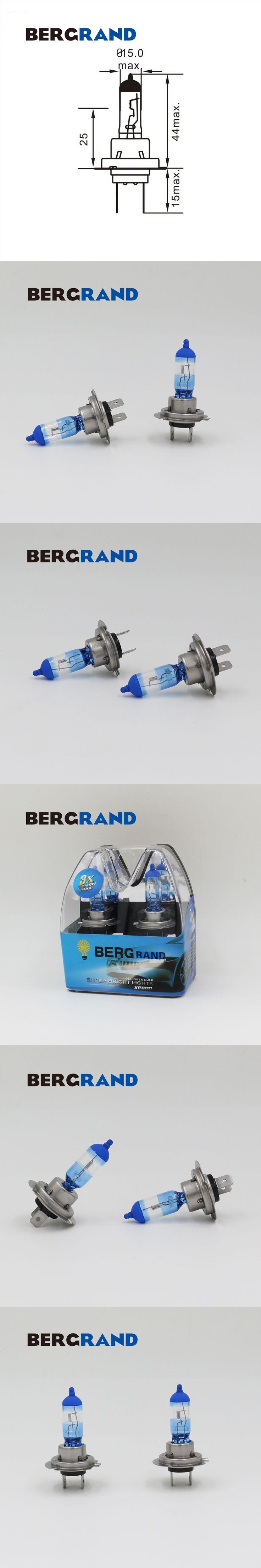 Car Light H7 Headlight Bulb 55W External Lights 55W Xenon Halogen Bulb 4100-4200K Super Vision Ultra Hard Glass Light Source