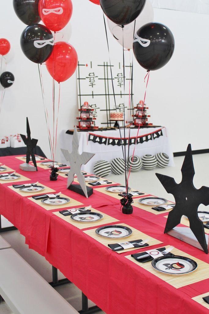 How To Throw An Epic Ninja Birthday Party Crowning Details Ninja Birthday Parties Ninja Birthday Ninja Themed Birthday Party