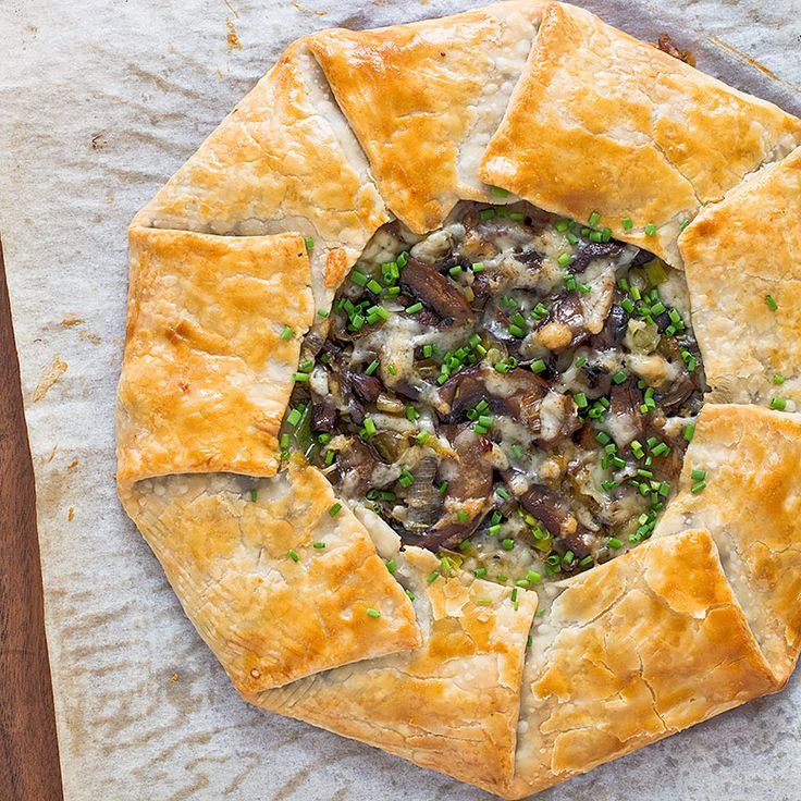 For this weeknight crostata, we brown the mushrooms and leeks in the skillet for great depth of flavor.