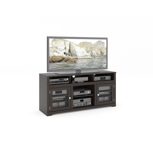 West Lake Mocha Black 60-Inch Television Bench