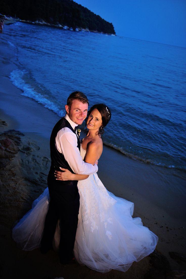 Skiathos, Greece. Beach Wedding reception