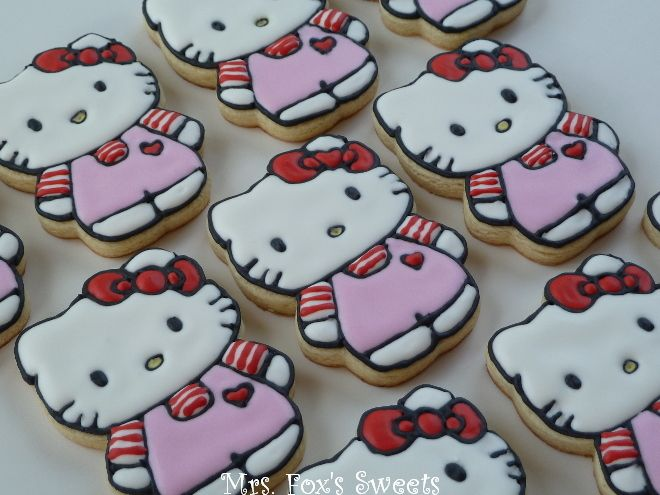Mrs. Fox's Sweets: Hello Kitty Cookies