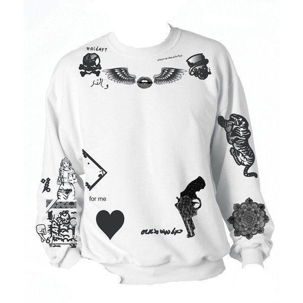 Amazon.com: Allntrends Women's Sweatshirt 1D Zayn Malik Newest Tattoo:... ($25) ❤ liked on Polyvore
