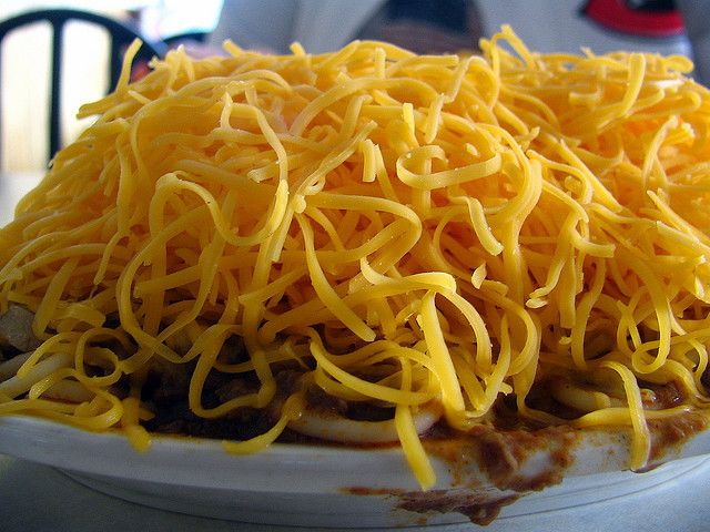 4-way chili, maybe Cincinnati's most famous regional cuisine. And what's better - Skyline or Gold Star? Very tough. Here's a copycat recipe for Cincinnati Skyline chili lovers.