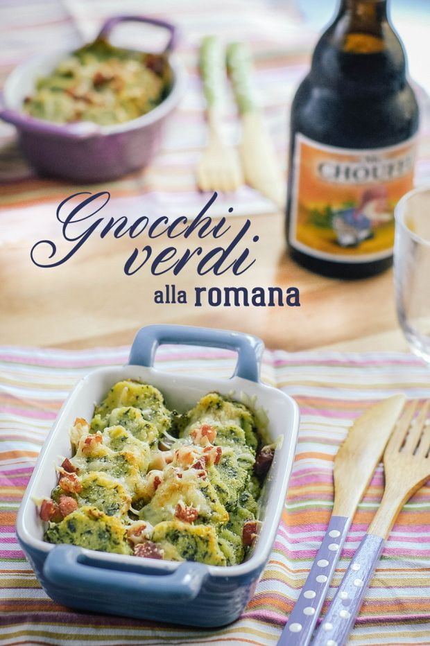 Gnocchi verdi alla romana // Green semolina dumplings  http://bricioleincucina.com/