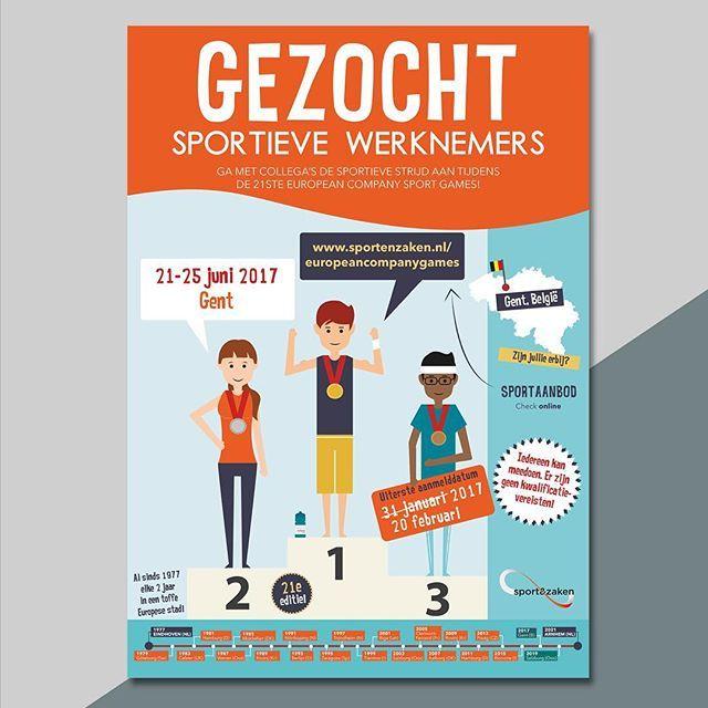 Ontwerp poster voor Sport&Zaken #companygames #infographic #flyer #ontwerp #studiobont