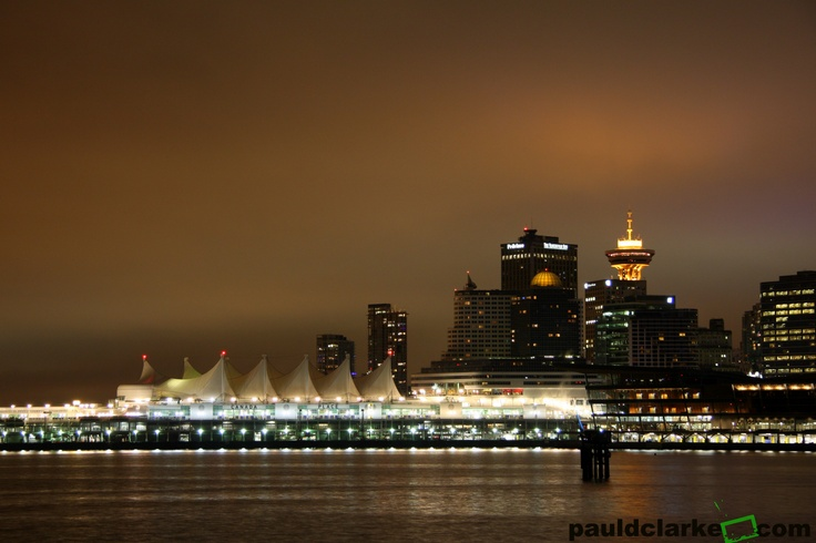 Skyline view of Canada Place, Vancouver, BC #Vancouver #Canada #Place #Waterfront
