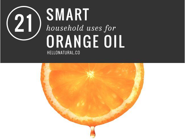 21 Smart Household Uses for Orange Oil