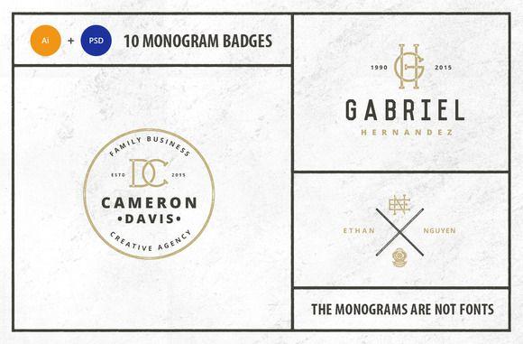 Monogram Pack 0.6 by Mcraft on Creative Market