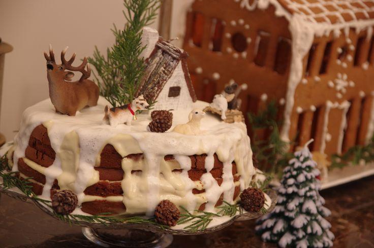 New Year Breakfast - 2016 yılbaşı new year breakfast kahvaltı 2016 cheese plate olive meal christmas merry christmas noel tree buche de noel gingerbread house cake animals diorama