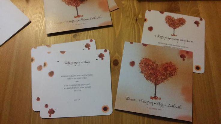 jesienne zaproszenia ślubne jesień autumn wedding ślub wesele