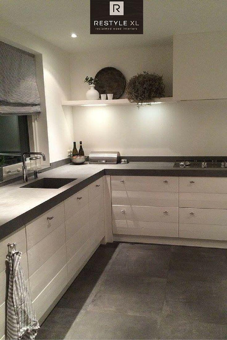25 beste idee n over keuken gordijnen op pinterest keuken gordijnen keuken raambekleding en - Deco witte keuken ...