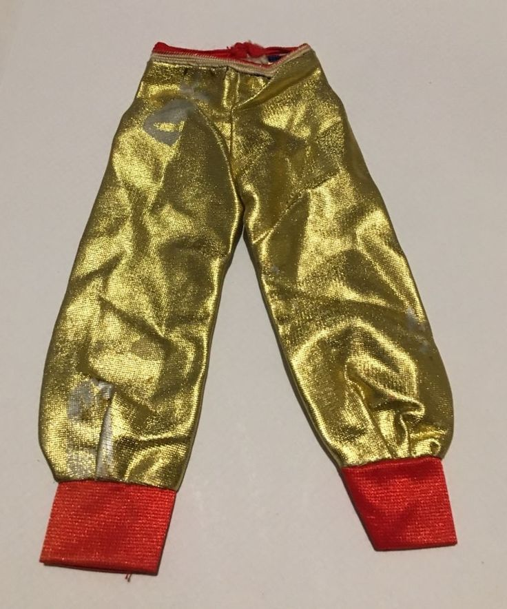 Faerie Glen Gold and Red trousers from 1970's. Gold has worn off in place, see photos. ACTUAL PHOTO COMING SOON. | eBay!