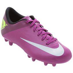 62f16c7fbd ... Chuteira Nike Mercurial Victory 2 FG Infantil - Pink+Branco ...